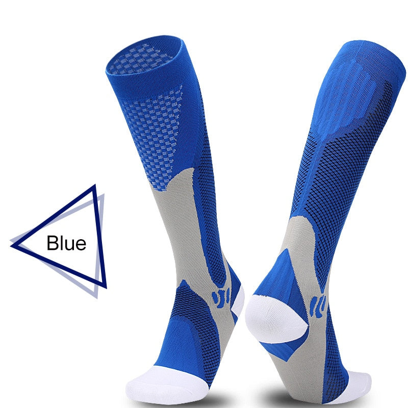 Men&Women New Compression Long Running Socks Men High Elastic Sports Stocking Running Cycling High Compression Leg Support