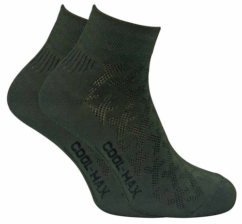 2 Pairs Mens Coolmax Breathable Ankle Hiking Socks