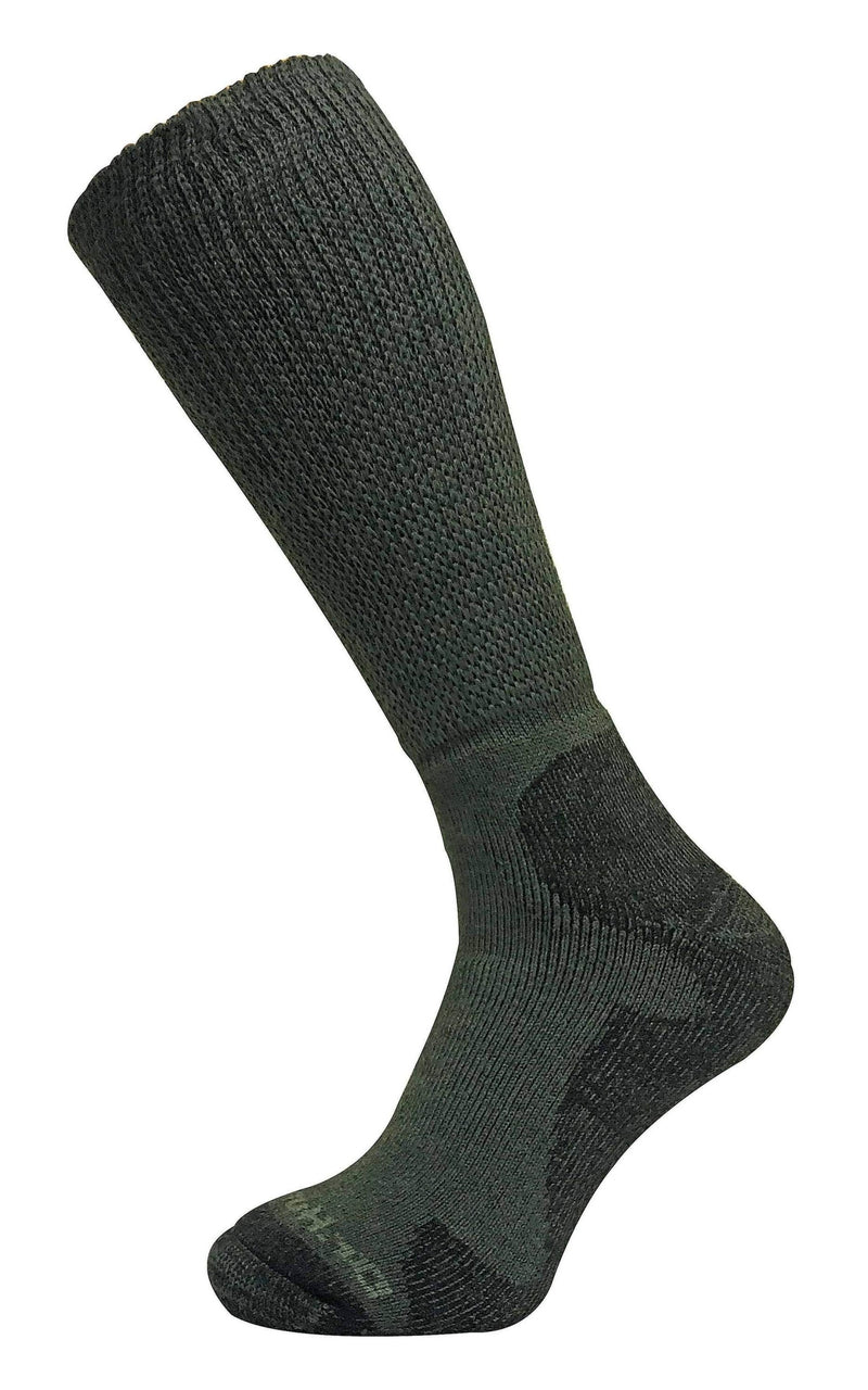 Mens Wide Top Knee High Merino Wool Hiking Socks
