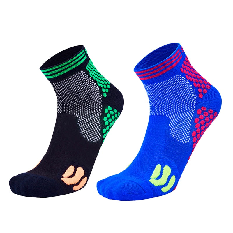 Men Women Compression Socks Profession Breathable10-15mmHg Marathon Socks Outdoor Anti Fatigue Sport Cycling Running Sock