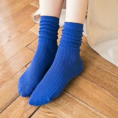 Women Socks Striped Cotton Socks Lady Retro socks For Spring Autumn Winter