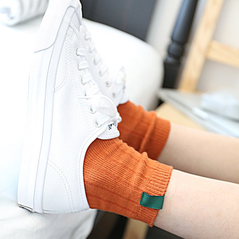 1Pair Warm Women Socks Striped 3D Socks Autumn Winter Style Socks