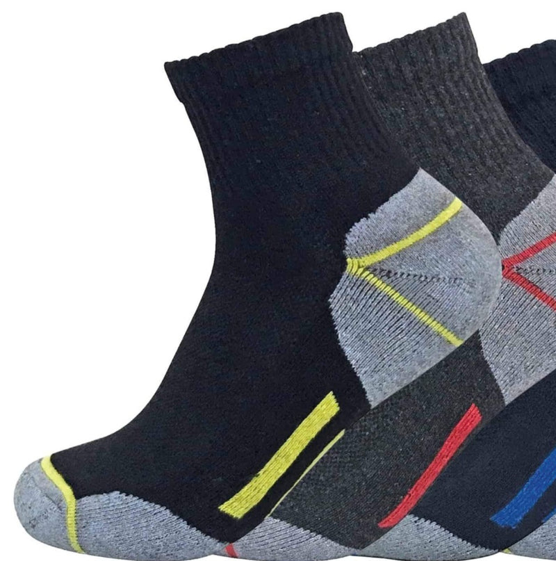 6 Pairs Mens Low Cut Ultimate Work Socks