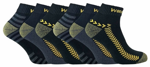 6 Pairs Mens Low Cut Work Socks