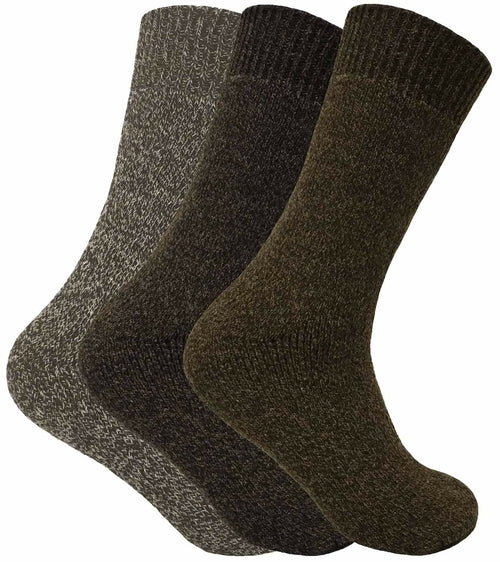 3 Pairs Mens Thermal Wool Hiking Socks