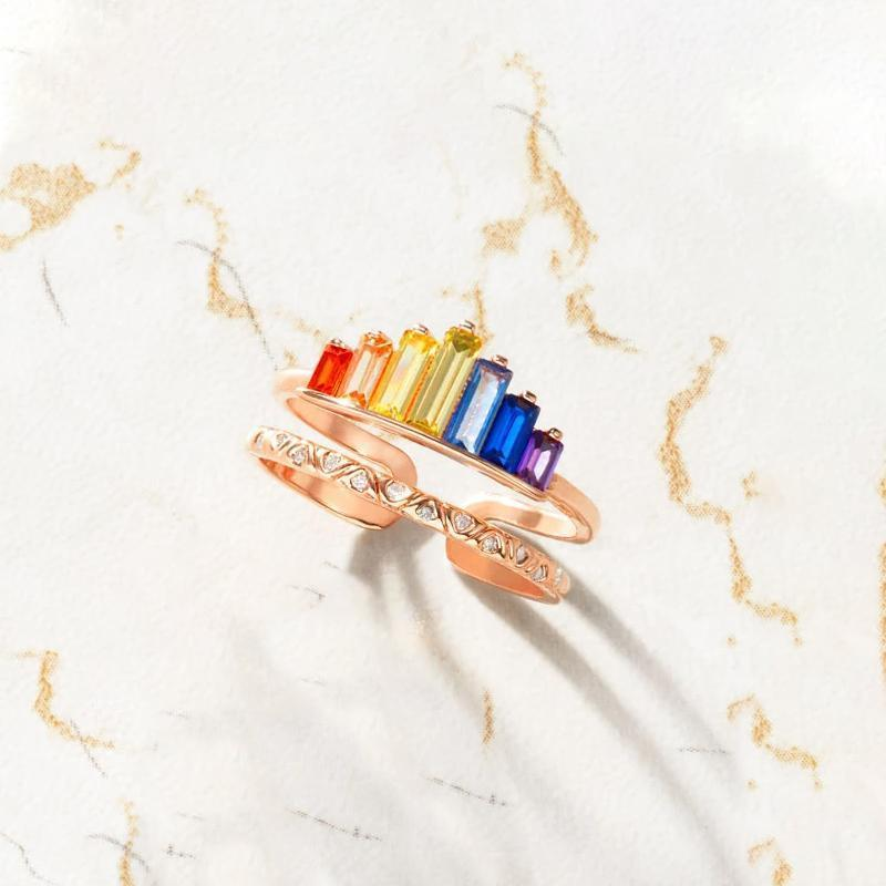 Pre-Sale>>Rainbow Micro Diamond Ring