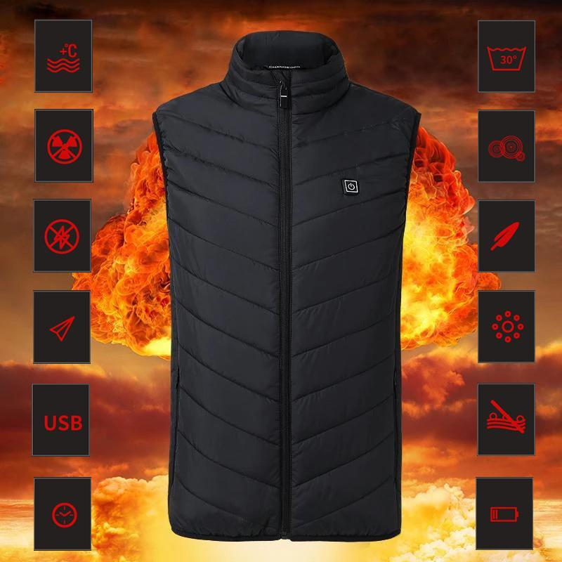 Instant Warmth Heating Vest, unisex