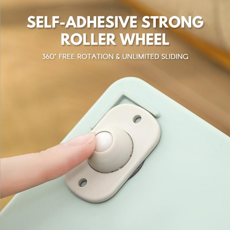 Self-adhesive strong roller wheel