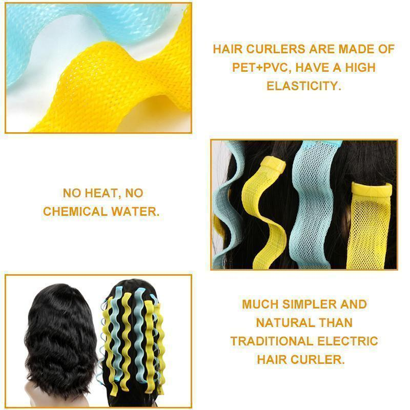 No-heating Hair Spiral Styling Curlers - 12 Pcs