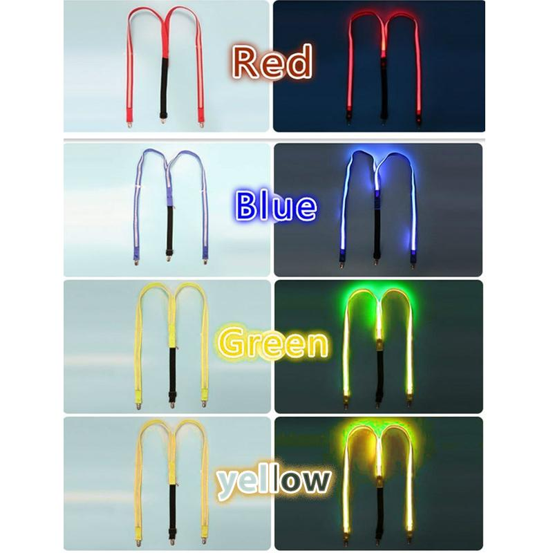 Light Up LED Suspenders Bow Tie