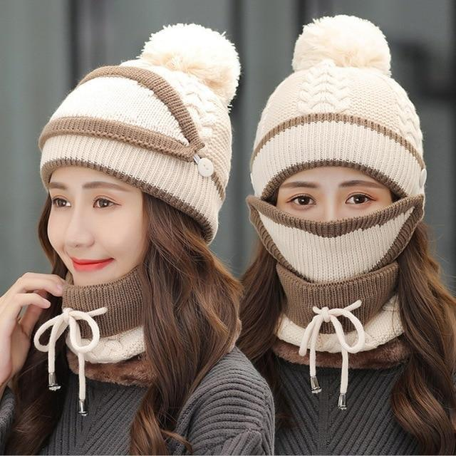 Women's Winter Beanie and Scarf