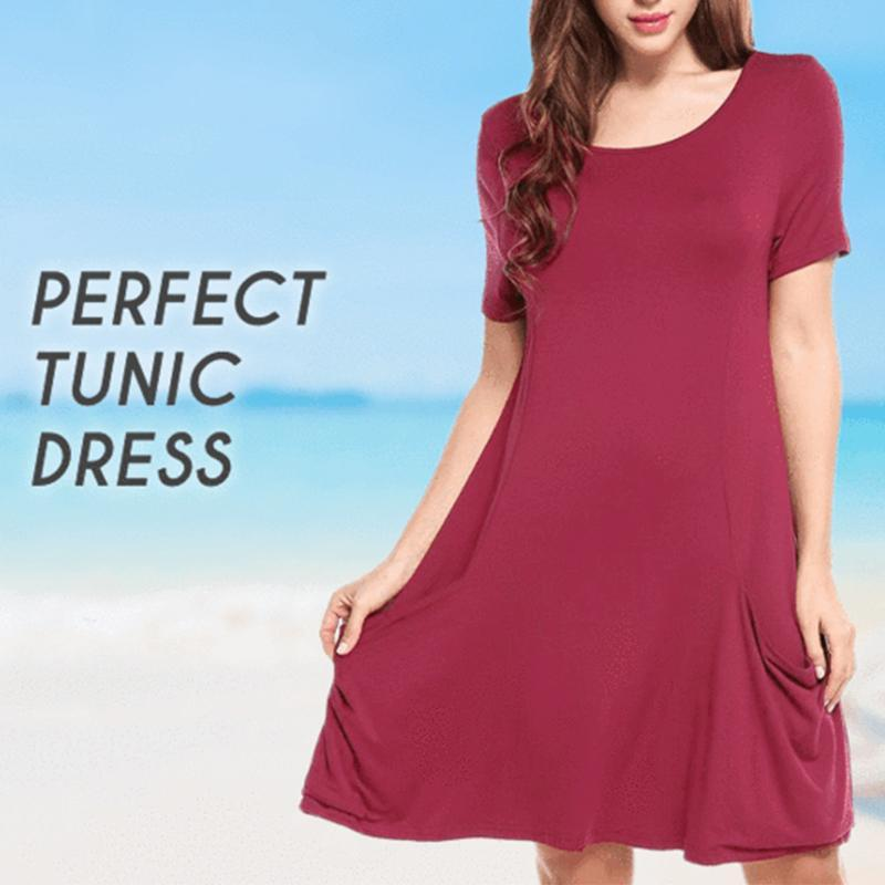 Summer Travel Short Sleeve Dress