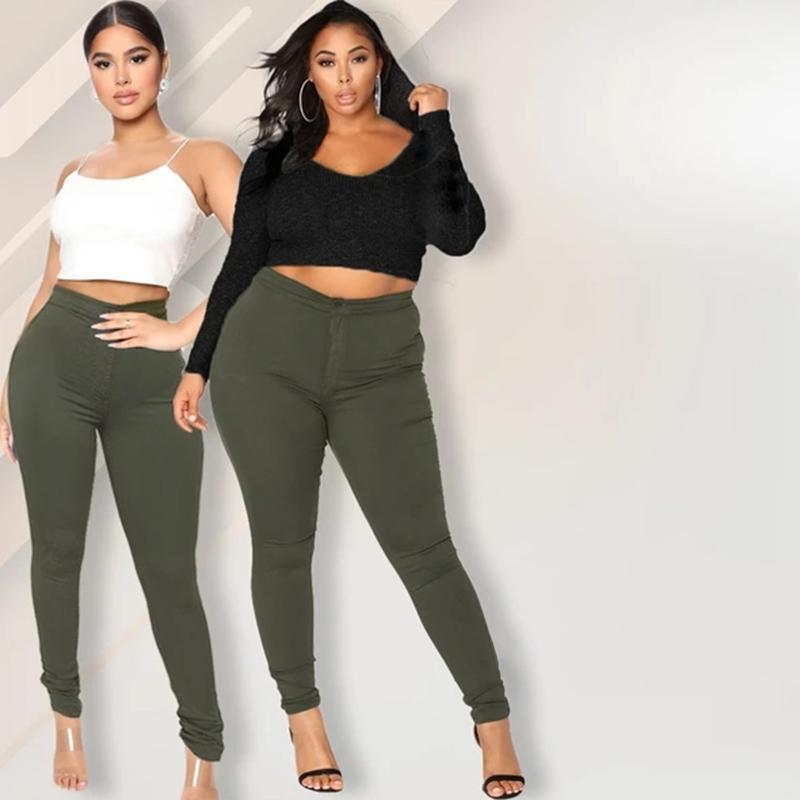High-Rise Stretch Plus Size Jeans