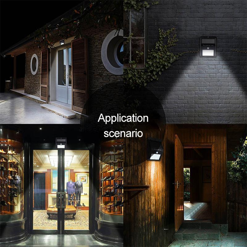 LED Solar Lamps Outdoor, Super Bright Wall Lamp with Motion Sensor