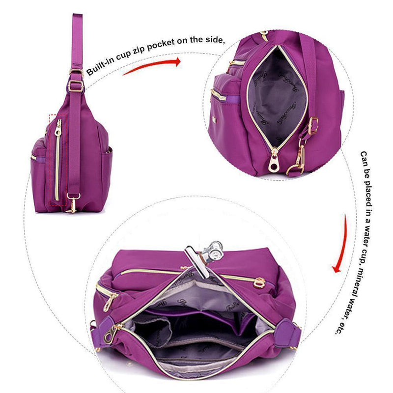 Bag with Double Zippers, Handbag and Shoulder Bag