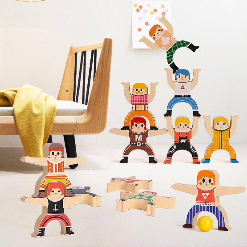Wooden Stacking Blocks Balancing Toy