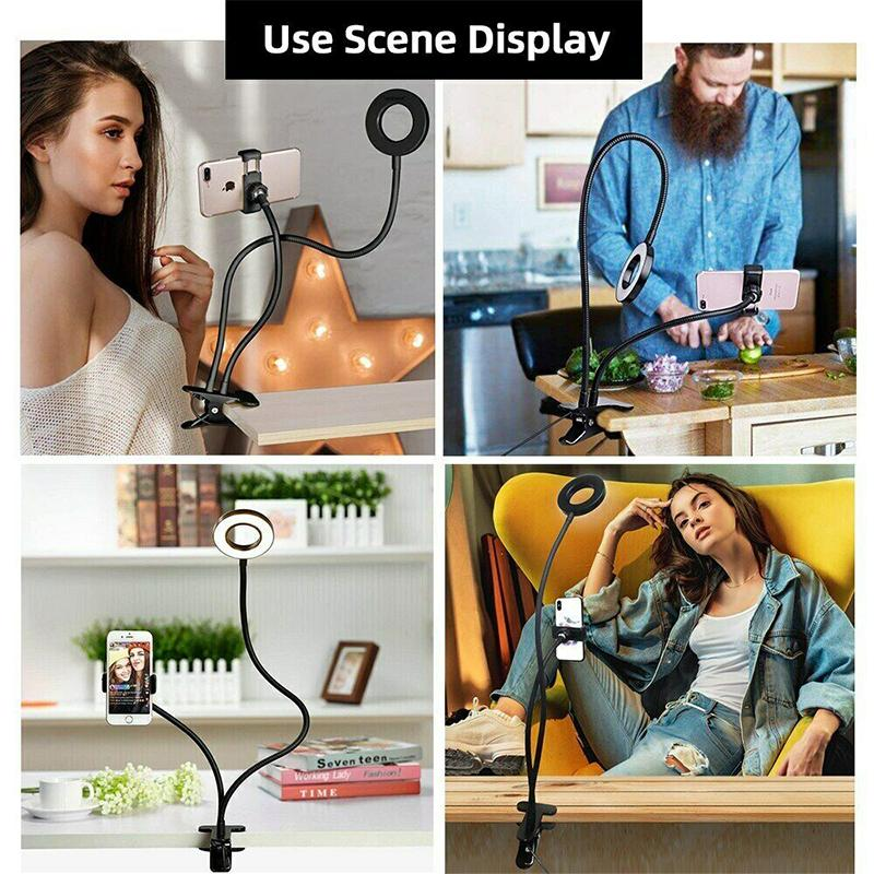 Selfie Ring Light with Cell Phone Holder Stand