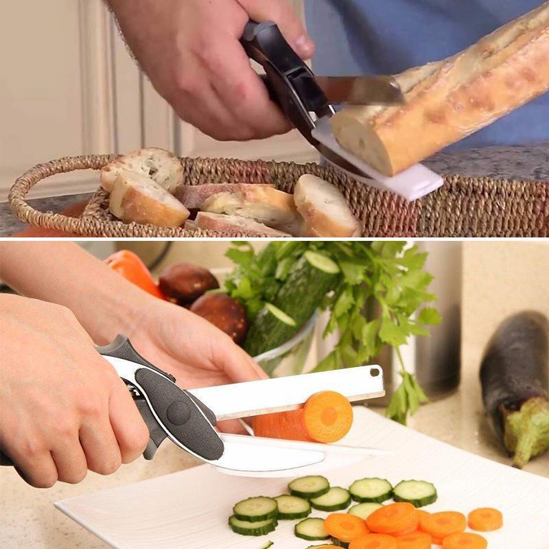 Multifunctional  Scissors Food Vegetable Scissor 2 in 1