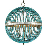 Turquoise Orb Chandelier