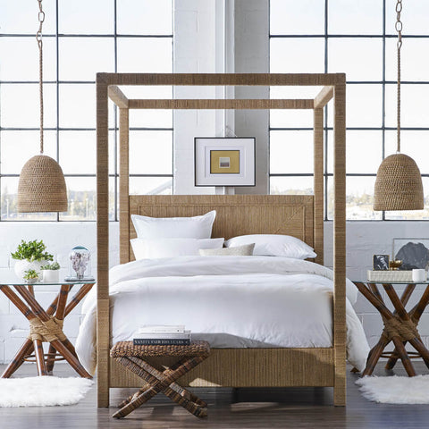Woodside Rope Wrapped Canopy Bed