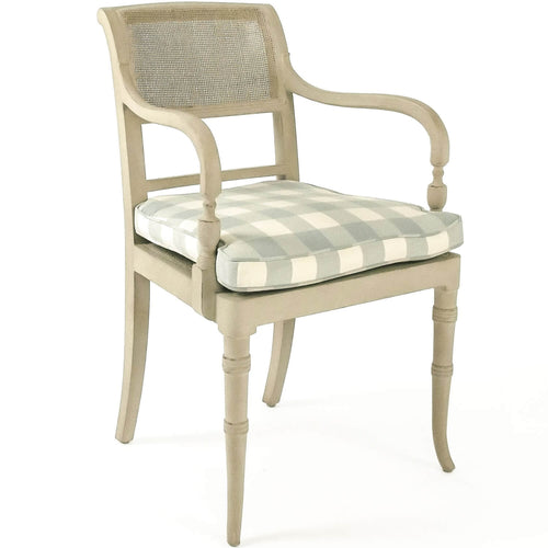 Country Cottage Chic Arm Chair Cane Back Belle Escape