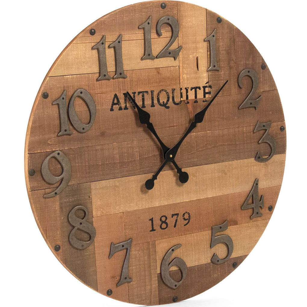 Darcy Rustic Wood Wall Clock Belle Escape