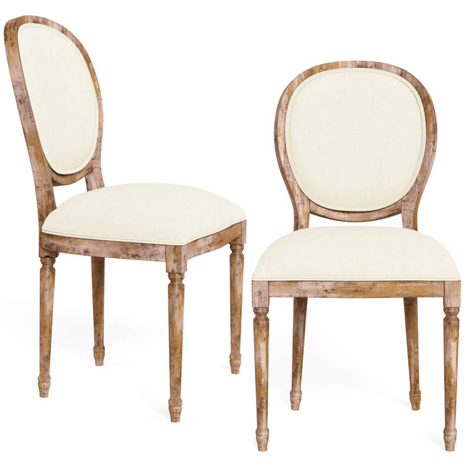 Traditional Round Back Dining Chair Belle Escape