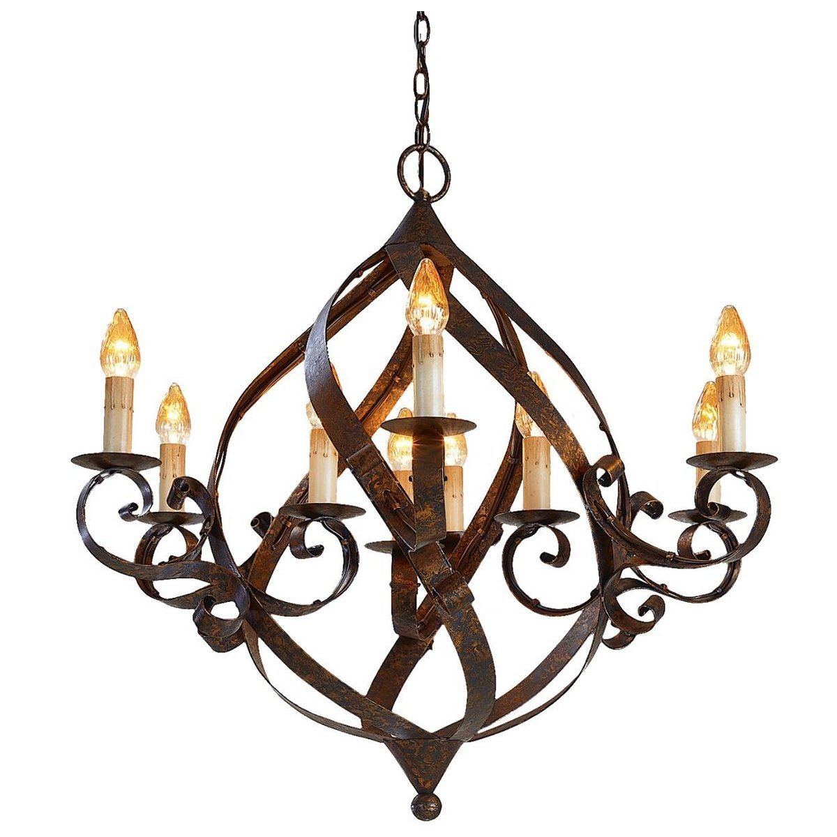 Wrought Iron Globe Chandelier Belle Escape