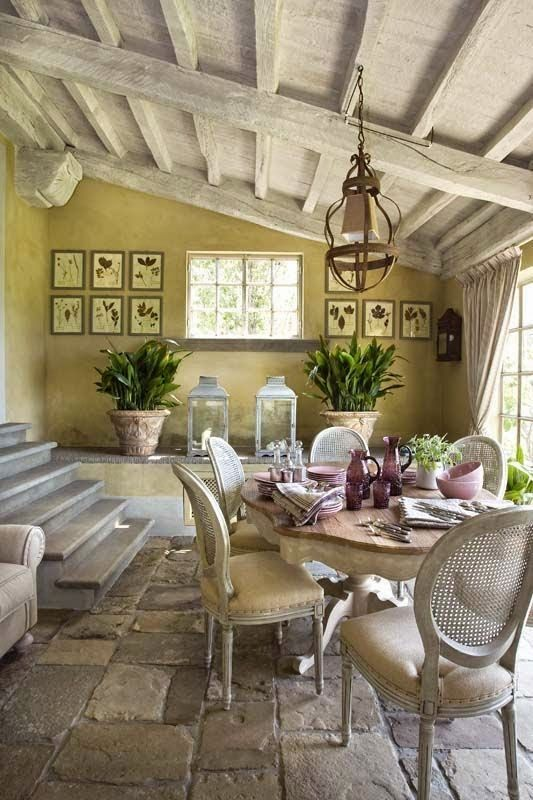 Provence style dining room
