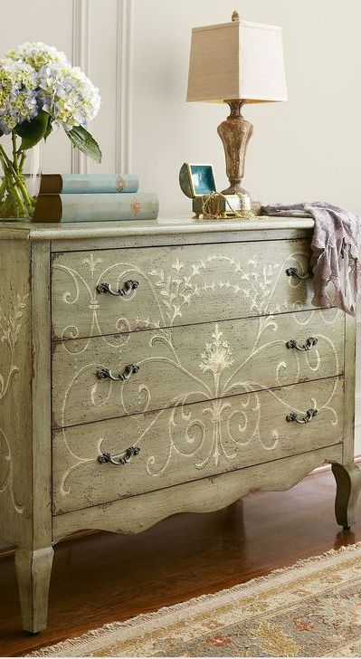 Painted entry chest