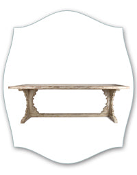 white distressed french farmhouse dining table