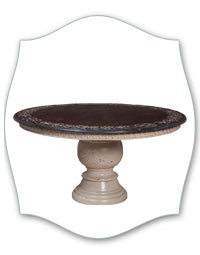 scroll border round pedestal table