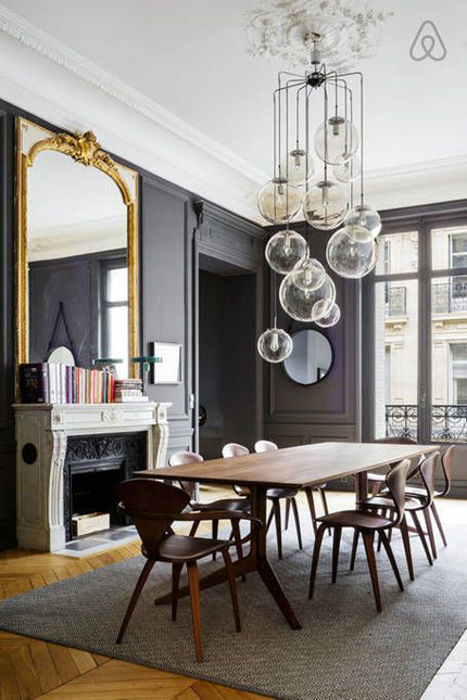 Vintage Pariaisian apartment with industrial accents
