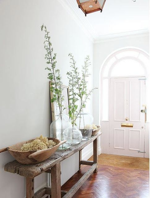 """""""Lab-inspired decoration"""" isn't how I would have described this entry hall, but I love it!"""