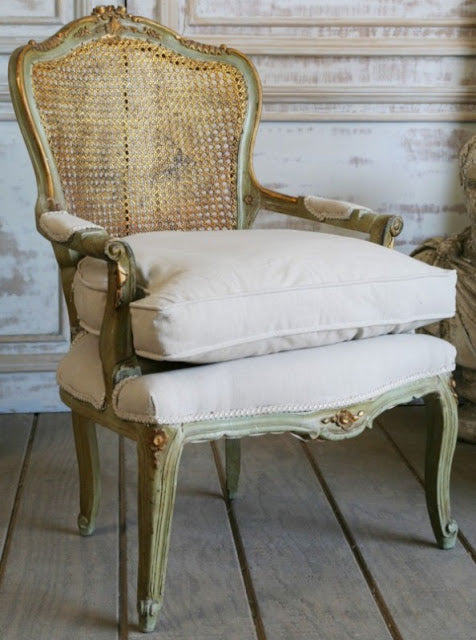 shabby-french-green-and-gold-chair