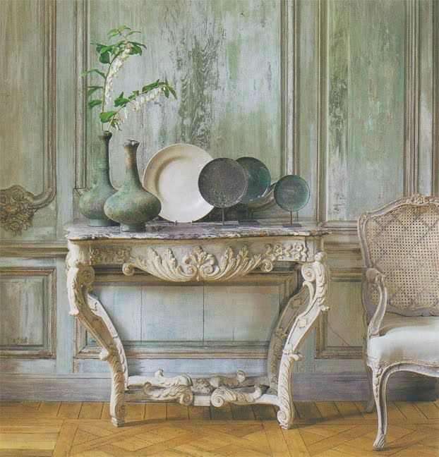 Limed wood wall Veranda magazine via interiorandgardendesign Dont Paint the Paneling (& Other Shocking Advice from The Decorologist)