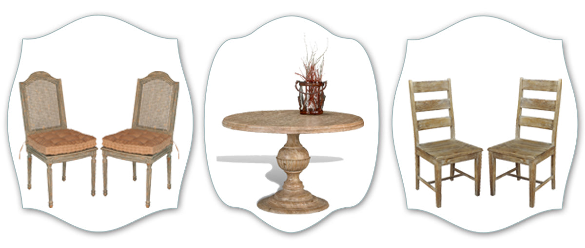 Southwestern style tables and chairs