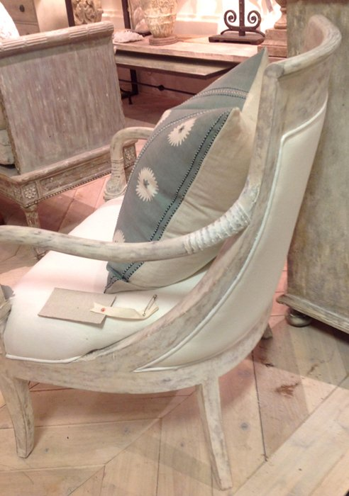 Curved French Wood Chair - Dauphine