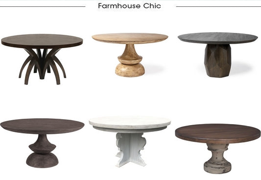 Farmhouse Chic Round Dining Tables