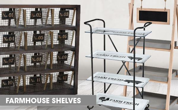 Farmhouse Shelves and Ladders