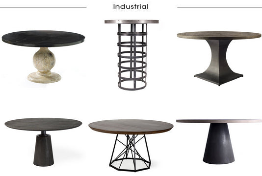 Industrial Chic Dining Tables from Belle Escape