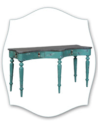 nautical aqua blue distressed chest