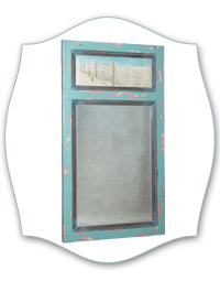 coastal trumeau aqua blue mirror