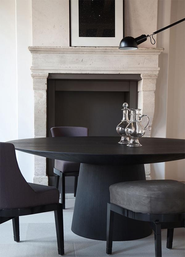 Matte Black Dining Room