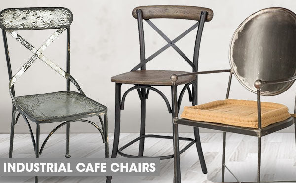 industrial farmhouse cafe chairs