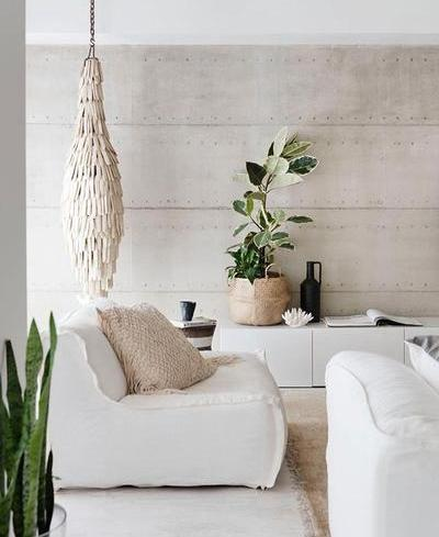 Natural Fibers and textures Living Room