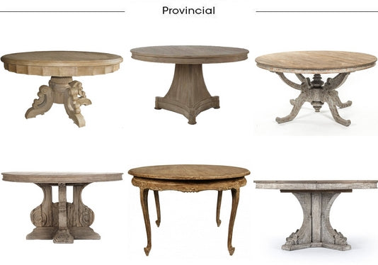 Provence Chic Round Tables from Belle Escape