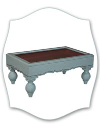 blue shadowbox coffee table