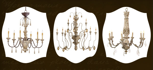 vintage french style chandelliers