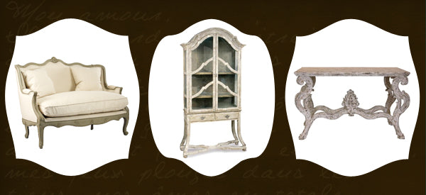 vintage french style furniture and decor